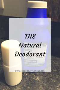 THE Natural Deodorant, That's Right THE Deodorant and It WORKS!
